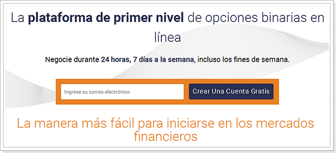 Cuenta de demostración gratuita de comercio de opciones binarias