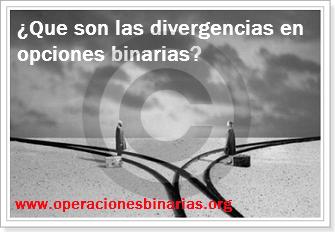 Como indentificar divergencias opciones binarias