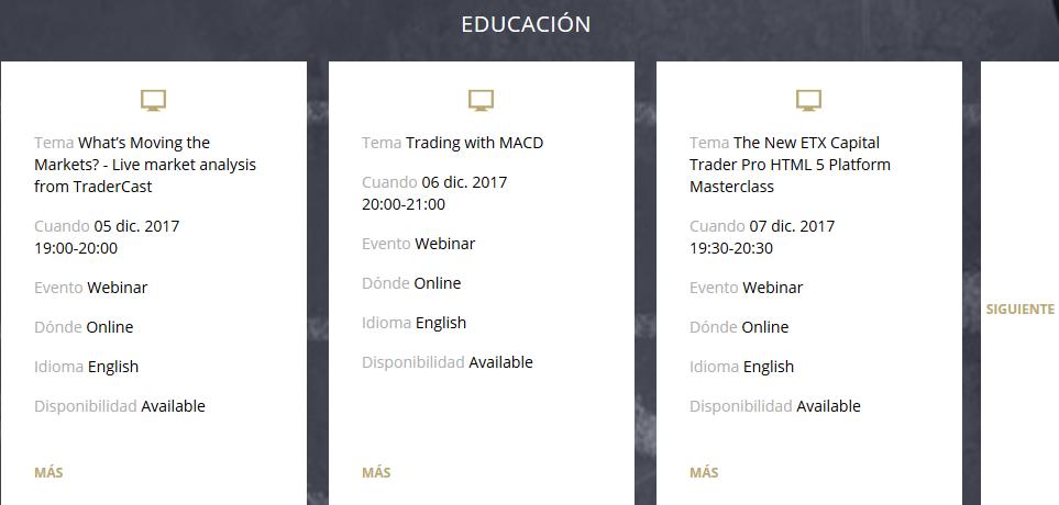 Seminario web de opciones binarias